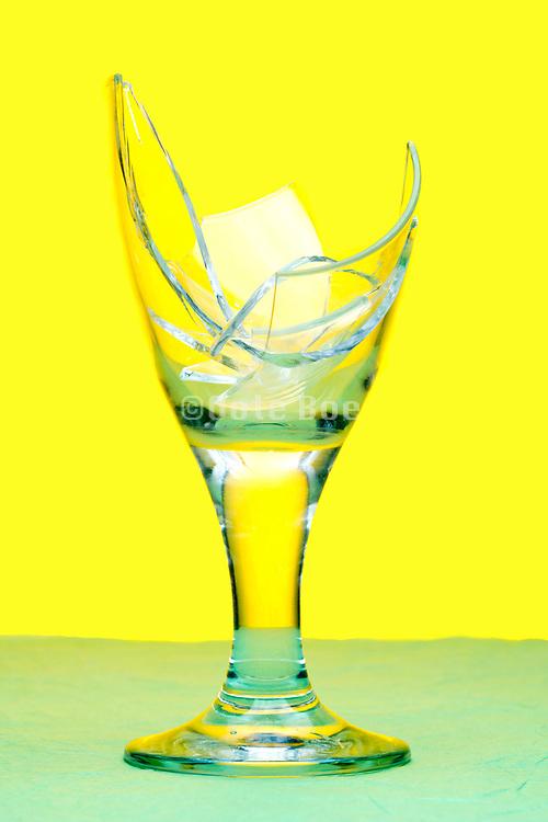 broken drinking glass