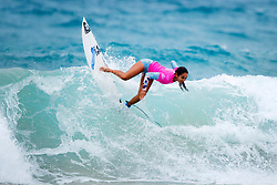 Vahine Fierro of French Polynesia winning Quarterfinal 1 at the Jeep World Junior Championship at Kiama.