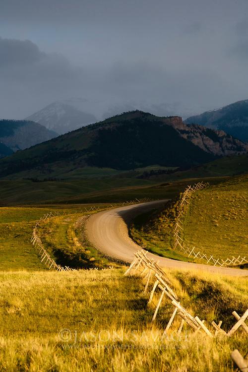Pass storm along Montana's Rocky Mountain Front.