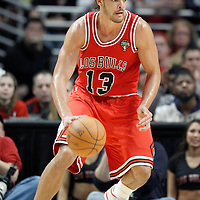 12 March 2012: Chicago Bulls center Joakim Noah (13) is seen in the post during the Chicago Bulls 104-99 victory over the New York Knicks at the United Center, Chicago, Illinois, USA.