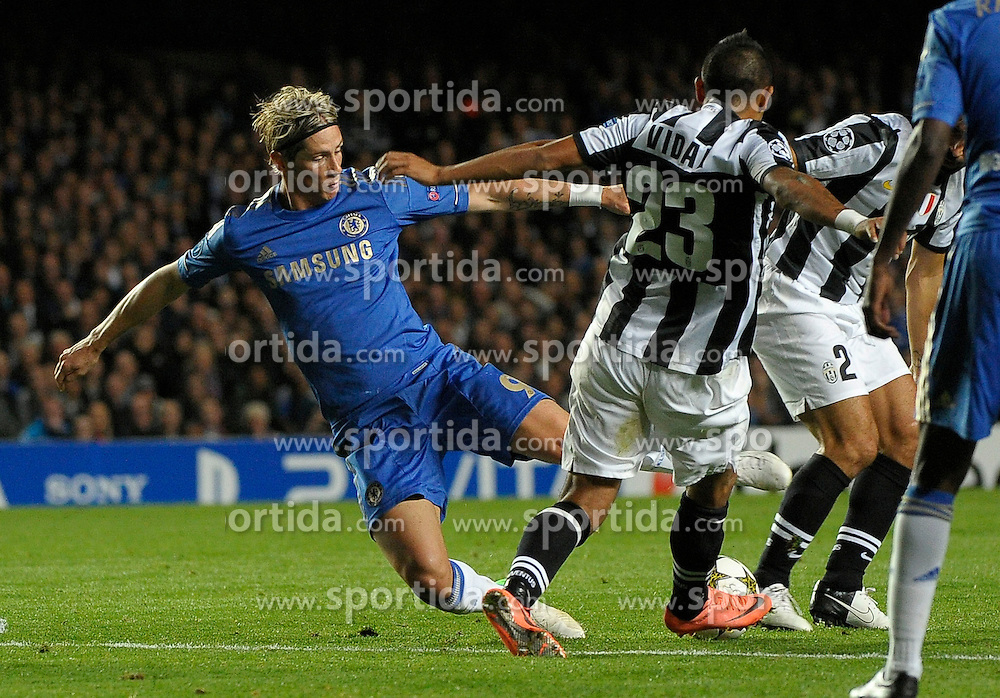 19.09.2012, Stamford Bridge, London, GBR, UEFA Champions League, FC Chelsea vs Juventus Turin, Gruppe E, im Bild Fernando Torres Chelsea // during the UEFA Champions League group E match between Chelsea FC and Juventus FC at the Stamford Bridge, London, Great Britain on 2012/09/19. EXPA Pictures © 2012, PhotoCredit: EXPA/ Insidefoto/ Federico Tardito..***** ATTENTION - for AUT, SLO, CRO, SRB, SUI and SWE only *****