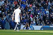 Leeds United midfielder Pablo Hernandez (19) replaces Leeds United midfielder Kemar Roofe (7)  during the EFL Sky Bet Championship match between Blackburn Rovers and Leeds United at Ewood Park, Blackburn, England on 20 October 2018.