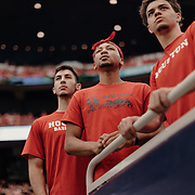 University of Houston fans watch the game from the stands.<br /> <br /> Todd Spoth for The New York Times.