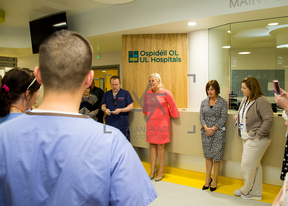 29.05. 2017.                                             <br /> IRELAND&rsquo;S largest and most advanced Emergency Department has opened this Monday at University Hospital Limerick.<br /> <br /> Addressing the new Emergency Department team before it opened its doors was UHL CEO Colette Cowan.<br /> <br /> <br /> A &euro;24 million project (development and equipment costs), the ED spans 3,850 square metres of floor space, over three times the size of the old department. In 2016, UHL had the busiest ED in the country, with over 64,000 attendances. Picture: Alan Place