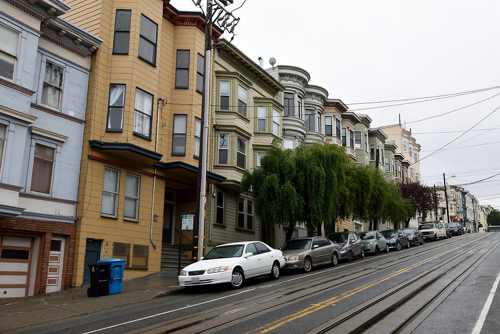 A typical street in San Francisco, California on November 16'th, 2017. Photo by Gili Yaari
