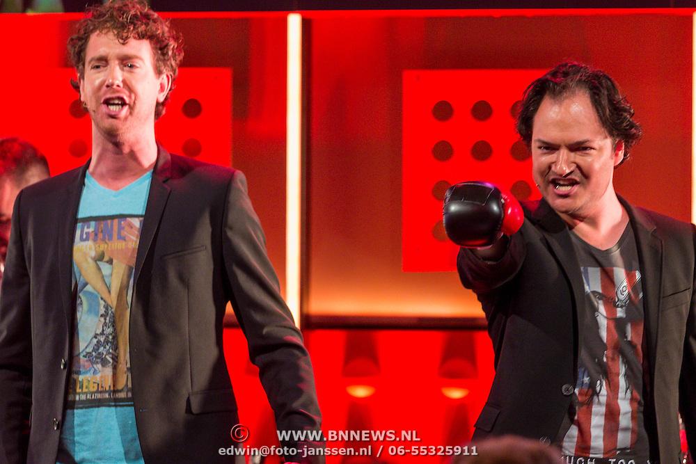 NLD/Amsterdam/20130828- Vara Najaarspresentatie 2013, van der Laan & Woe, Niels van der Laan en Jeroen Woe