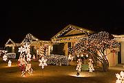 Eastridge Neighborhood Chirstmas display, El Paso, Texas.