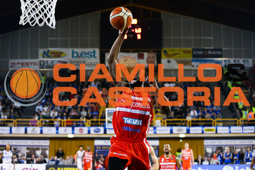 Johnson Dominique<br /> Germani Basket Brescia Leonessa - Openjobmetis Pallacanestro Varese<br /> Lega Basket Serie A 2016/2017<br /> Montichiari, 19/03/2017<br /> Foto Ciamillo-Castoria / M. Brondi