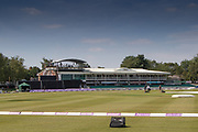 General view of the ground before the Royal London Women's One Day International match between England Women Cricket and Australia at the Fischer County Ground, Grace Road, Leicester, United Kingdom on 4 July 2019.