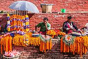 Prayer flowers Kathmandu Durbar Square in front of the old royal palace of the former Kathmandu Kingdom, Nepal