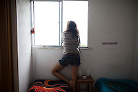 Kate Steiker-Ginzberg, 23, of Philadelphia, rents a one-bedroom apartment in Vidigal, a pacified favela in the South Zone of Rio de Janeiro, Brazil, on Thursday, May 23, 2013. She pays $600 reals a month, which includes utilities.