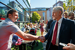 © Licensed to London News Pictures. 01/10/2015. Edinburgh, UK. Leader of Labour Party Jeremy Corbyn meeting members of public in Edinburgh on Thursday, 1 October 2015 whilst making his first visit to Scotland as leader of the UK Labour Party. Photo credit: Tolga Akmen/LNP