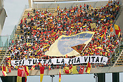 Foto di Donato Fasano - LaPresse.15  05  2011  Bari ( Italia ).Sport Calcio.AS Bari -  Us Lecce   TIM Serie A 2010  2011 - Stadio San Nicola Bari.Nella foto: ultras lecce .Photo Donato Fasano - LaPresse.15  05  2011 Bari ( Italy ).Sport Soccer.AS Bari  - Us Lecce Serie  A Soccer League 2010 2011- San Nicola Stadium Bari.In the Photo: ultras lecce