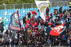 """Foto Filippo Rubin<br /> 01/10/2017 Ferrara (Italia)<br /> Sport Calcio<br /> Spal vs Crotone - Campionato di calcio Serie A 2017/2018 - Stadio """"Paolo Mazza""""<br /> Nella foto: TIFOSI DEL CROTONE<br /> <br /> Photo Filippo Rubin<br /> October 01, 2017 Ferrara (Italy)<br /> Sport Soccer<br /> Spal vs Crotone - Italian Football Championship League a  2017/2018 - """"Paolo Mazza"""" Stadium <br /> In the pic: CROTONE SUPPORTERS"""