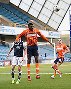 Blackpool defender Hayden White heads clear during the Sky Bet League 1 match between Millwall and Blackpool at The Den, London, England on 5 March 2016. Photo by David Charbit.
