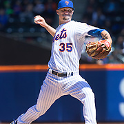 NEW YORK, NEW YORK - APRIL 13: Pitcher Logan Verrett, New York Mets, pitching during the Miami Marlins Vs New York Mets MLB regular season ball game at Citi Field on April 13, 2016 in New York City. (Photo by Tim Clayton/Corbis via Getty Images)