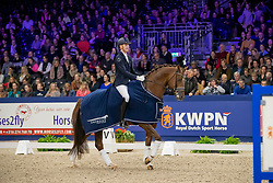 Minderhoud Hans Peter, NED, Glock's King Karim<br /> KWPN hengstenkeuring - 's Hertogenbosch 2020<br /> © Hippo Foto - Dirk Caremans<br /> 01/02/2020