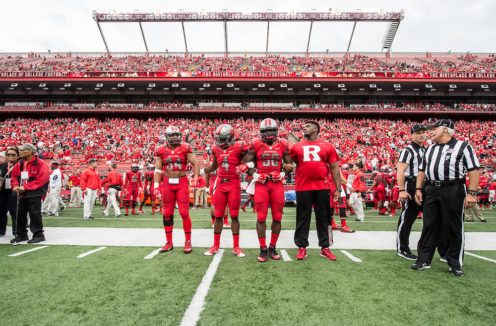The Rutgers Scarlet Knights football team takes on Washington State at High Point Solutions Stadium on Saturday afternoon September 13, 2015.<br />