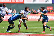 Fiji in action against  Argentina <br /> <br /> Photographer Craig Thomas/Replay Images<br /> <br /> World Rugby HSBC World Sevens Series - Day 2 - Friday 6rd December 2019 - Sevens Stadium - Dubai<br /> <br /> World Copyright © Replay Images . All rights reserved. info@replayimages.co.uk - http://replayimages.co.uk