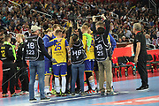 Ambiance players of Sweden during the EHF 2018 Men's European Championship, Final Handball match between Spain and Sweden on January 28, 2018 at the Arena in Zagreb, Croatia - Photo Laurent Lairys / ProSportsImages / DPPI