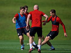 CARDIFF, WALES - Sunday, September 8, 2019: Wales' Tom Lawrence (L) and James Lawrence during a training session at the Vale Resort ahead of the International Friendly match between Wales and Belarus. (Pic by David Rawcliffe/Propaganda)