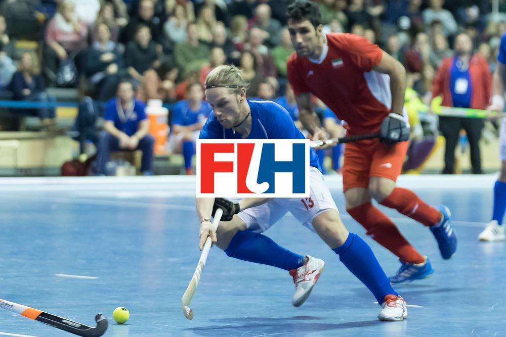 Hockey, Seizoen 2017-2018, 09-02-2018, Berlijn,  Max-Schmelling Halle, WK Zaalhockey 2018 MEN, Iran - Czech Republic 2-2 Iran Wins after shoutouts, Martin Lehovec.