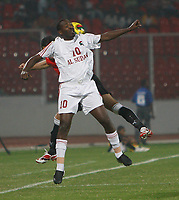 Photo: Steve Bond/Richard Lane Photography.<br />Egypt v Sudan. Africa Cup of Nations. 26/01/2008. Hatham Kamal tries to keep the ball in play