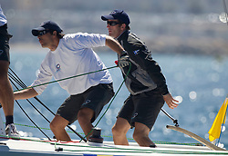 Ben Ainslie (UK) Team Origin in action  during   his  quarter Final with Philippe Presti (fra)   ,in  Marseille,France 10 April 2010 Photo: Brendon O'Hagan/Subzero images