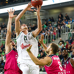 Blaz Mahkovic of Union Olimpija during basketball match between KK Union Olimpija Ljubljana and Telekom Baskets Bonn (GER) in Round 3 of EuroCup 2015/16, on October 28, 2015 in Arena Stozice, Ljubljana, Slovenia. Photo by Matic Klansek Velej / Sportida.com