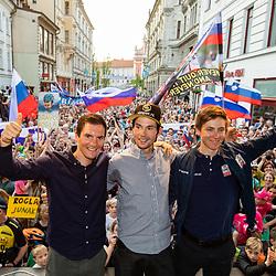 20190603: SLO, Cycling - Reception of Giro d'Italia riders Primoz Roglic, Jan Polanc, Tadej Pogacar