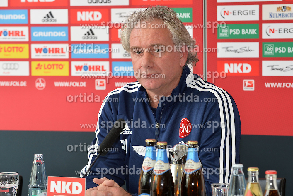 22.10.2013, easyCredit Stadion, Nuernberg, GER, 1. FBL, 1. FC Nuernberg Pressekonferenz, im Bild Der neue Co-Trainer des 1 FC Nuernberg Raymond Libregts wird bei der Pressekonferenz vorgestellt Portrait / Portraet // during the Pressconference of German Bundesliga Club 1. FC Nuernberg at the easyCredit Stadion in Nuernberg, Germany on 2013/10/22. EXPA Pictures © 2013, PhotoCredit: EXPA/ Eibner-Pressefoto/ Merz<br /> <br /> *****ATTENTION - OUT of GER*****