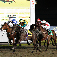 Clodhopper and Jim Crowley winning the 8.35 race