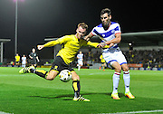 Burton's Tom Naylor (15) during the EFL Sky Bet Championship match between Burton Albion and Queens Park Rangers at the Pirelli Stadium, Burton upon Trent, England on 27 September 2016. Photo by Richard Holmes.