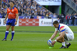 February 23, 2019 - Saint Denis, Seine Saint Denis, France - The Fullback of French TeamTHOMAS RAMOS in action during the Guinness Six Nations Rugby tournament between France and Scotland at the Stade de France - St Denis - France..France won 27-10 (Credit Image: © Pierre Stevenin/ZUMA Wire)