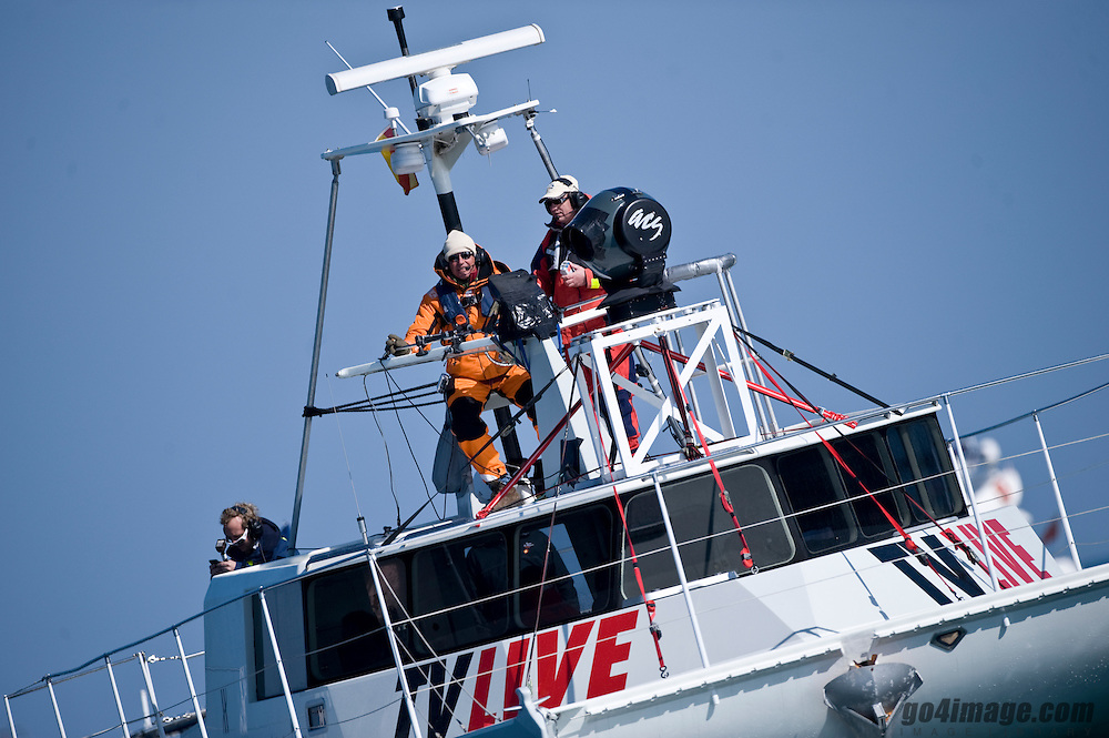 Water - Wizards is a high performance trans ocean film platform deliverable Worldwide.  This 50ft power catamaran has been specifically conceived, designed and built with extreme flexibility and efficiency to support and magnify all media specially as for fast races as the 33rd America's Cup held in Valencia Spain 2010 www.oceanfilmboat.com