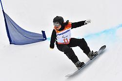 PARK Hang Seung KOR competing in ParaSnowboard, Snowboard Banked Slalom at  the PyeongChang2018 Winter Paralympic Games, South Korea.