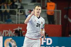 Cip Tomas of Czech Republic during handball match between National teams of Macedonia and Czech Republic on Day 6 in Main Round of Men's EHF EURO 2018, on January 23, 2018 in Arena Varazdin, Varazdin, Croatia. Photo by Mario Horvat / Sportida