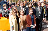 27-04-2017 KONINGSDAG 2017 TILBURG<br /> Koning Willem-Alexander, Koningin Maxima en de prinsessen (VLNR) Amalia Ariane en Alexia tijdens Koningsdag 2017 in Tilburg.<br /> <br /> <br /> Foto: Geert van Erven