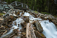 Mountain stream running into Lake O'Hara, Yoho National Park, Canada