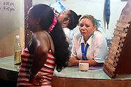Cafe in Niquero, Granma Province, Cuba.