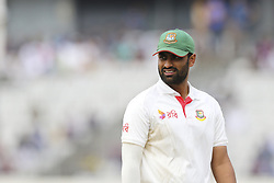 August 28, 2017 - Mirpur, Bangladesh - Bangladesh's Tamim Iqbal fields against Australia  during day two of the First Test match between Bangladesh and Australia at Shere Bangla National Stadium on August 28, 2017 in Mirpur, Bangladesh. (Credit Image: © Ahmed Salahuddin/NurPhoto via ZUMA Press)