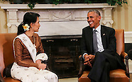 Washington: Barack Obama holds a bilateral meeting with Aung San Suu Kyi, 14 September 2016