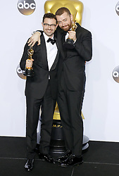 Jimmy Napes and Sam Smith at the 88th Annual Academy Awards - Press Room held at the Loews Hollywood Hotel in Hollywood, USA on February 28, 2016. EXPA Pictures © 2016, PhotoCredit: EXPA/ Photoshot/ Lumeimages.com<br />