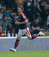 Lee Frecklington of Rotherham United celebrates after scoring his team's 1st goal to make it 1-0 during the Sky Bet Championship match at KC Stadium, Hull<br /> Picture by Russell Hart/Focus Images Ltd 07791 688 420<br /> 07/05/2016
