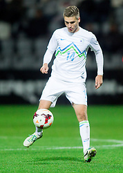 Blaz Vrhovec of Slovenia during football match between U21 National Teams of Slovenia and Russia in 6th Round of U21 Euro 2015 Qualifications on November 15, 2013 in Stadium Bonifika, Koper, Slovenia. Russia defeated Slovenia 1-0. Photo by Vid Ponikvar / Sportida