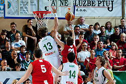 Adam Waczynski of Poland vs Miha Zupan of Slovenia at exhibition game between Slovenia and Poland for Primus Trophy 2011Lithuania as part of exhibition games before European Championship L2011on July 23, 2011, in Ljudski Vrt, Ptuj, Slovenia. (Photo by Matic Klansek Velej / Sportida)