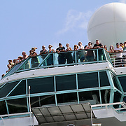 Majesty of the Seas leaves the Port of Miami on a cruise. Photography by Jose More