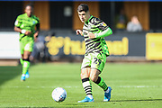 Forest Green Rovers Jack Aitchison(29), on loan from Celtic passes the ball forward during the EFL Sky Bet League 2 match between Cambridge United and Forest Green Rovers at the Cambs Glass Stadium, Cambridge, England on 7 September 2019.
