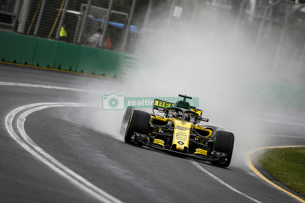 March 24, 2018 - Melbourne, Victoria, Australia - 27 HULKENBERG Nico (ger), Renault Sport F1 Team RS18, action during 2018 Formula 1 championship at Melbourne, Australian Grand Prix, from March 22 To 25 - s: FIA Formula One World Championship 2018, Melbourne, Victoria : Motorsports: Formula 1 2018 Rolex  Australian Grand Prix, (Credit Image: © Hoch Zwei via ZUMA Wire)