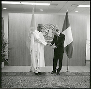 Muhammadu Buhari. the President of Nigeria, with United Nations Secretary General Ban Ki moon.